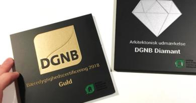 DGNB Guld til privat plejehjemsbyggeri
